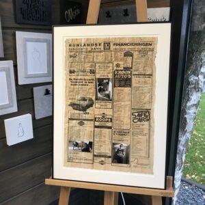 oude krant met foto's